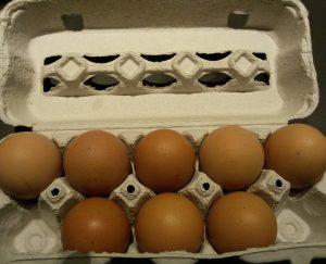 Eierkarton als Nahrungsmittelverpackung