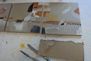 Kunst mit Karton - Entstehungsphase